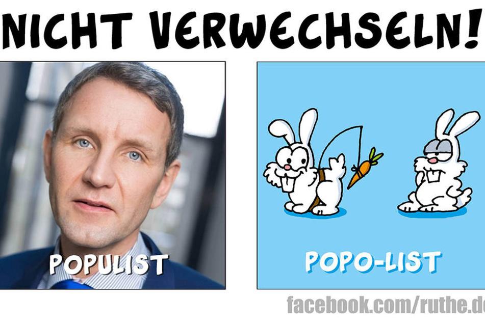 Cartoonist Ruthe verarscht AfD-Mann Höcke