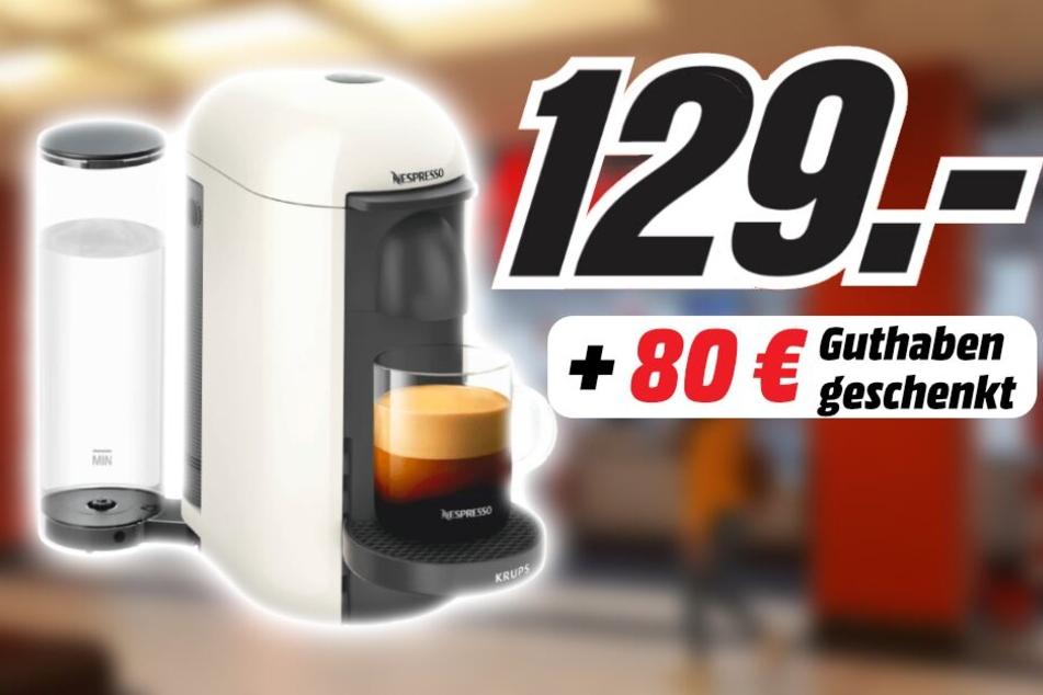 80 Euro für Nespresso-Kapseln schenkt Euch MediaMarkt, wenn Ihr Euch für diese Maschine entscheidet!