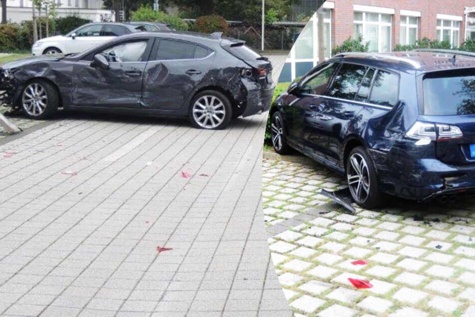 Rowdy-Oma fährt auf Parkplatz im Kreis und beschädigt zehn Autos