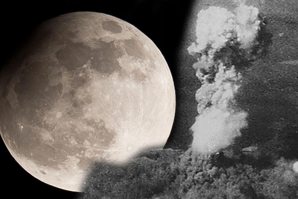 Die Sprengkraft auf dem Mond sollte ähnlich der Hiroshima-Bombe sein. Nach ihrem Abwurf am 6. August 1945 starben 140.000 Menschen.