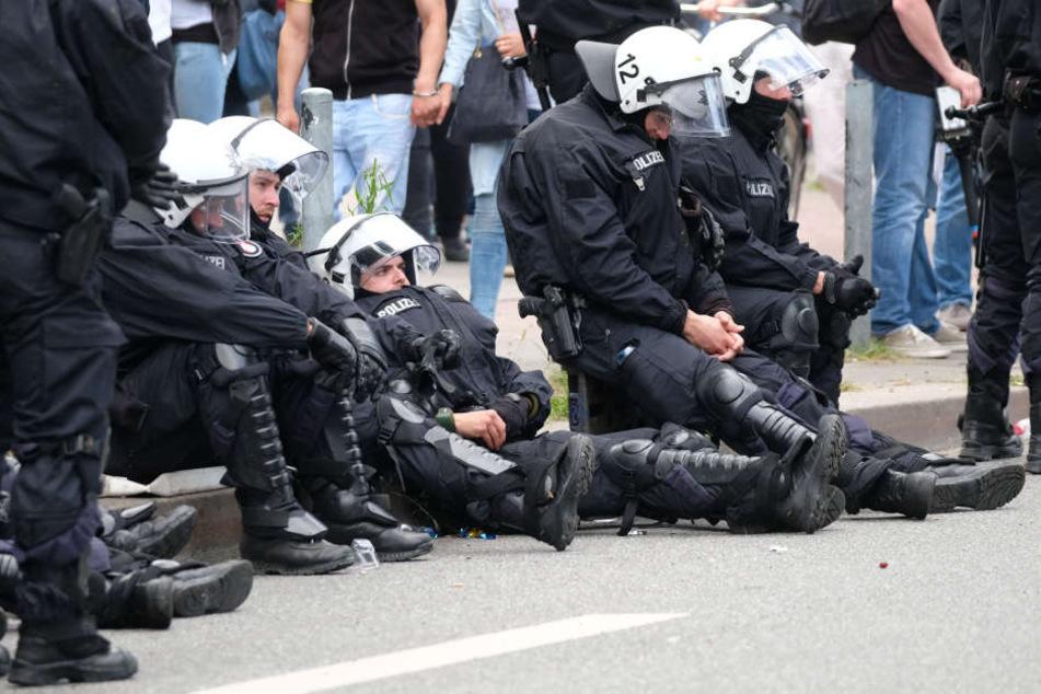 Polizisten beim G20 müssen sich ausruhen. Ihr Einsatz war enorm.
