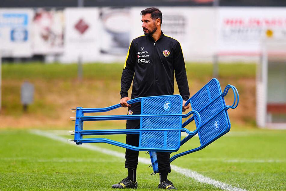 Cristian Fiel heute als Trainer von Dynamo Dresden.