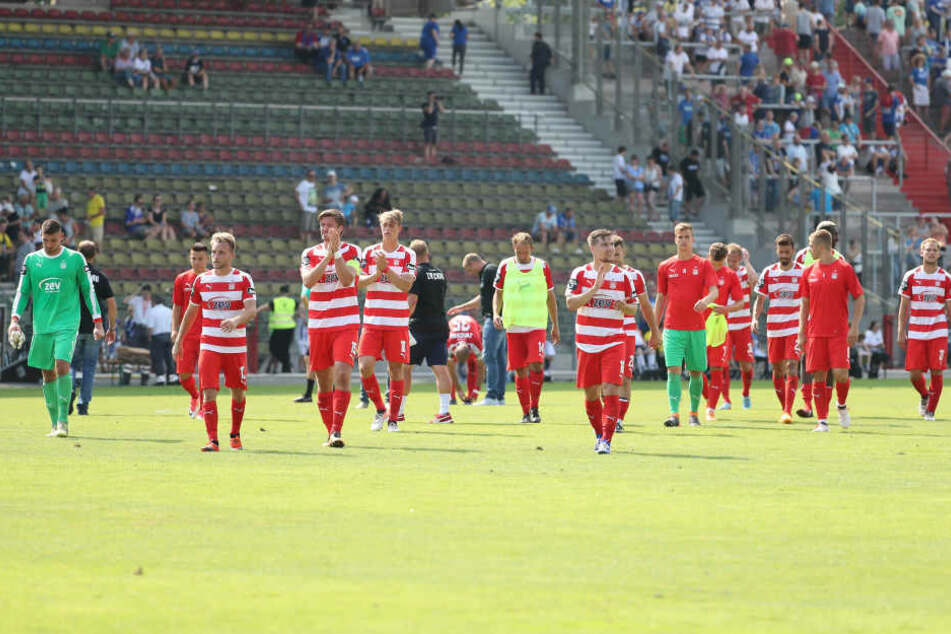 Den Sieg in letzter Sekunde verpasst, die FSV-Kicker waren nach dem Abpfiff enttäuscht.
