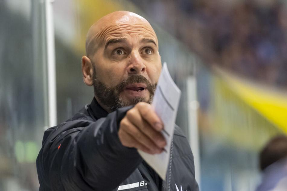 Rico Rossi war beim ersten Spiel gegen Bad Tölz noch nicht der Trainer der Dresdner Eislöwen.
