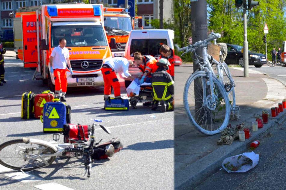 Schlimmer Unfall: Radfahrer von Auto auf Kreuzung erfasst