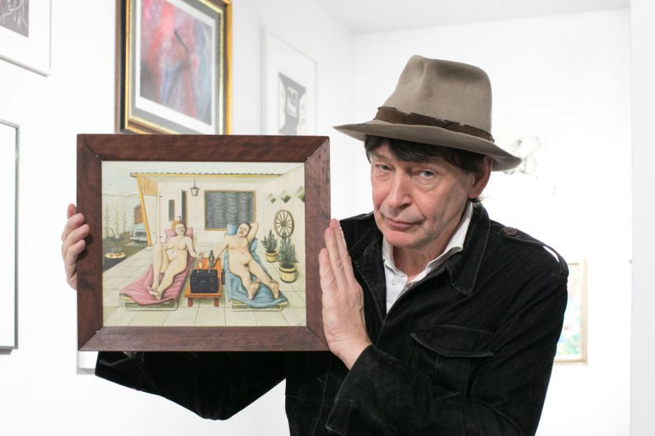 Holger John zeigt ein Wochenend-Paradies des Radebeuler Autodidakten Horst Hille (1941-2015). Der gelernte Maurer war dem DDR-Regime ein Dorn im Auge, durfte erst in den 80er Jahren auf der IX./X. Kunstausstellung seine Arbeiten zeigen.
