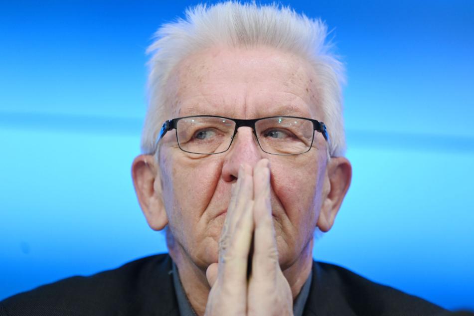 Winfried Kretschmann bei der Regierungs-Pressekonferenz im Bürger- und Medienzentrum des Stuttgarter Landtags.