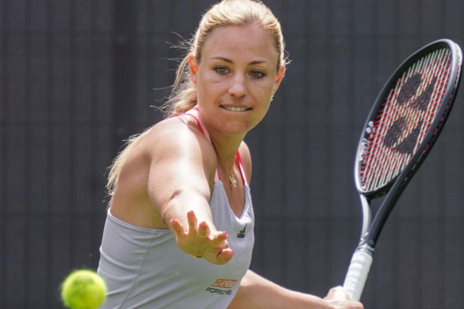 In einem Show-Mixed zur Eröffnung des Bad Homburger Center Courts spielt die dreimalige Grand-Slam-Turniersiegerin Angelique Kerber (32).