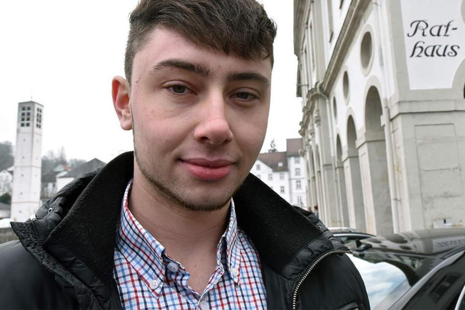 AfD-Politiker Florian Kohlweg (20) wurde Opfer eines Angriffes.