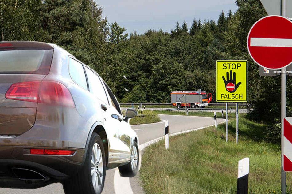 Weil ein 85-Jähriger falsch auf die A33 bei Paderborn abbog, musste ein anderer Autofahrer eine Vollbremsung hinlegen, um einen Crash zu vermeiden.