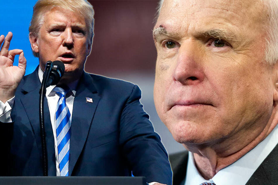 Mit US-Präsident Donald Trump steht John McCain auf Kriegsfuß.