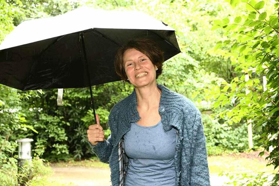 Regenwolken sind für Astrid Schurig ein Segen.