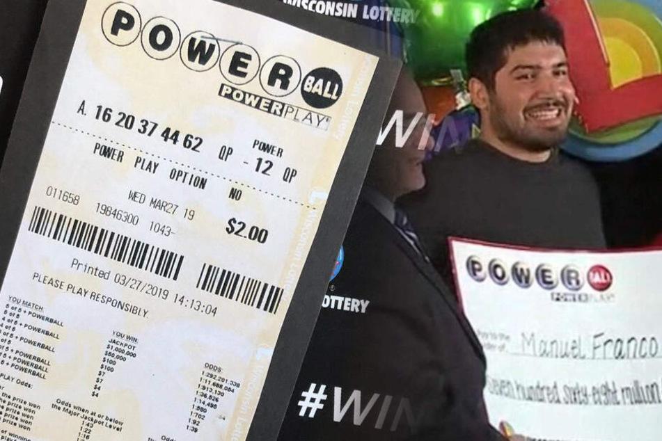 Typ (24) gewinnt 768 Millionen Dollar im Lotto! Darum will er nicht die komplette Summe haben