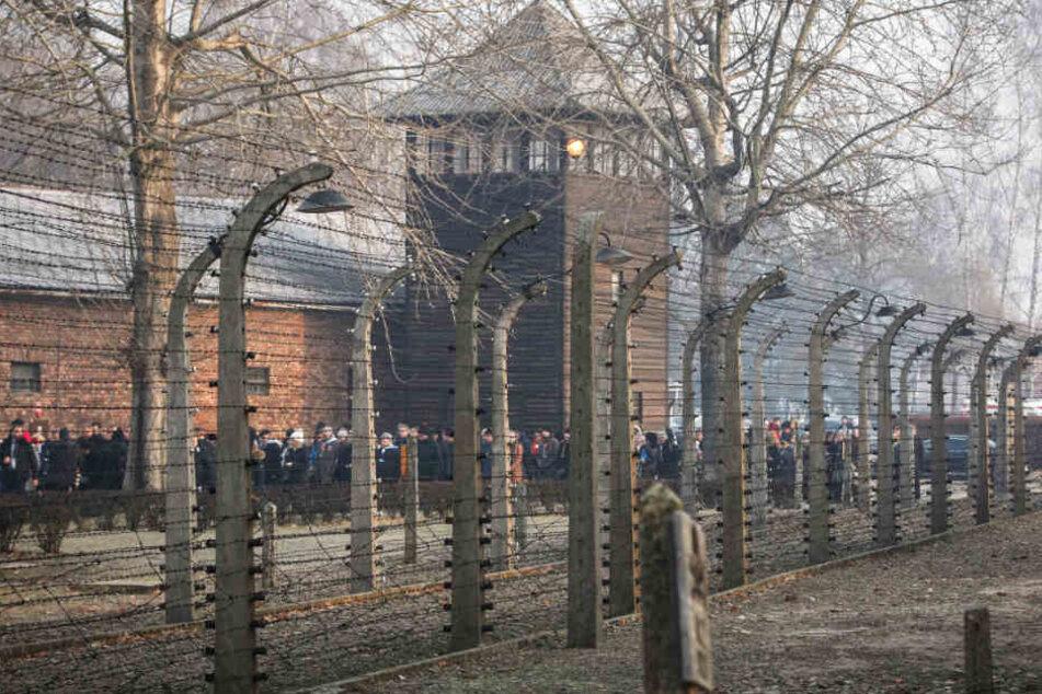 An der Gedenkfeier zum 75. Jahrestag der Befreiung des ehemaligen deutschen Konzentrationslagers Auschwitz kamen am Montag zahlreiche Besucher.