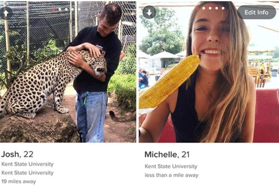Die beiden haben sich bei Tinder kennengelernt und schafften es, drei Jahre ohne Date zu flirten.