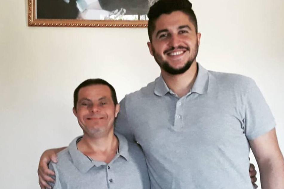 Jad mit seinem Sohn Sader Issa.
