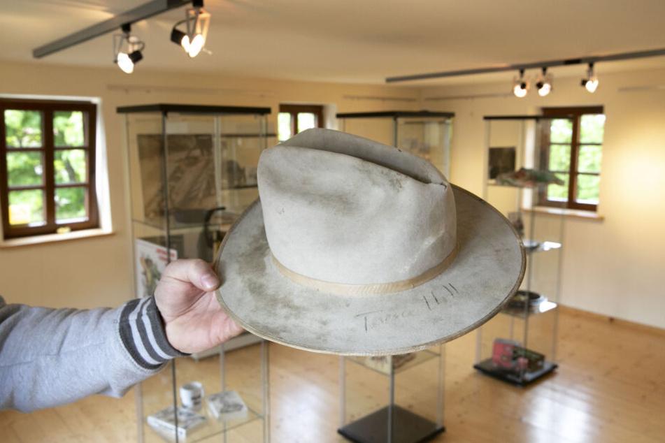 """Mit Originalautogramm: Der Hut von Terence Hill aus dem Film """"Mein Name ist Nobody"""" ist Teil der Ausstellung."""