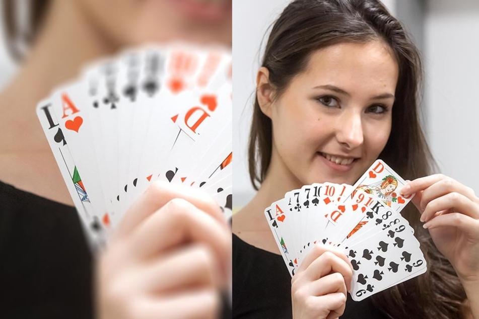 Herzdame und Tag24-Reporterin Isabel Möller schaute den Spielern in die Karten.
