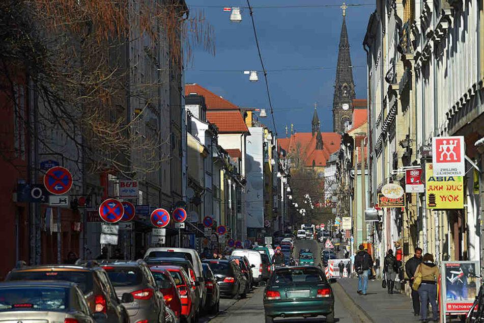Auf der Alaunstraße kam es zu der heftigen Auseinandersetzung der fünf Männer.
