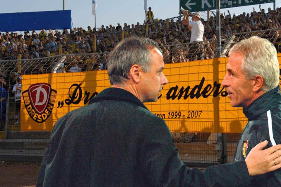 Volkmar Köster (l.) entließ Trainer Christoph Franke im Dezember 2005. Trotzdem blieben beide freundschaftlich verbunden.