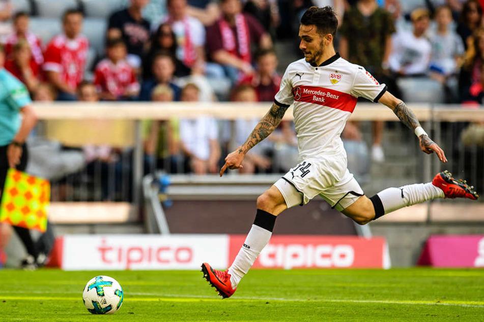 VfB-Angreifer Anastasios Donis zeigte eine gute Leistung und wurde dennoch als erster Stuttgarter Spieler ausgewechselt.