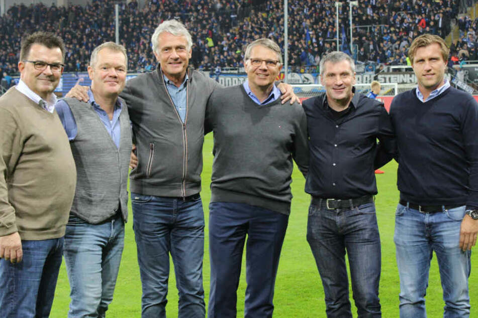 (v.l.) Martin Hornberger (SCP-Geschäftsführer), Dr. med. Karl Schünemann, Dr. med. Hans Walter Hemmen, Dr. med. Lutz Mahlke, Dr. med. Matthias Porsch und Markus Krösche (Geschäftsführer Sport).