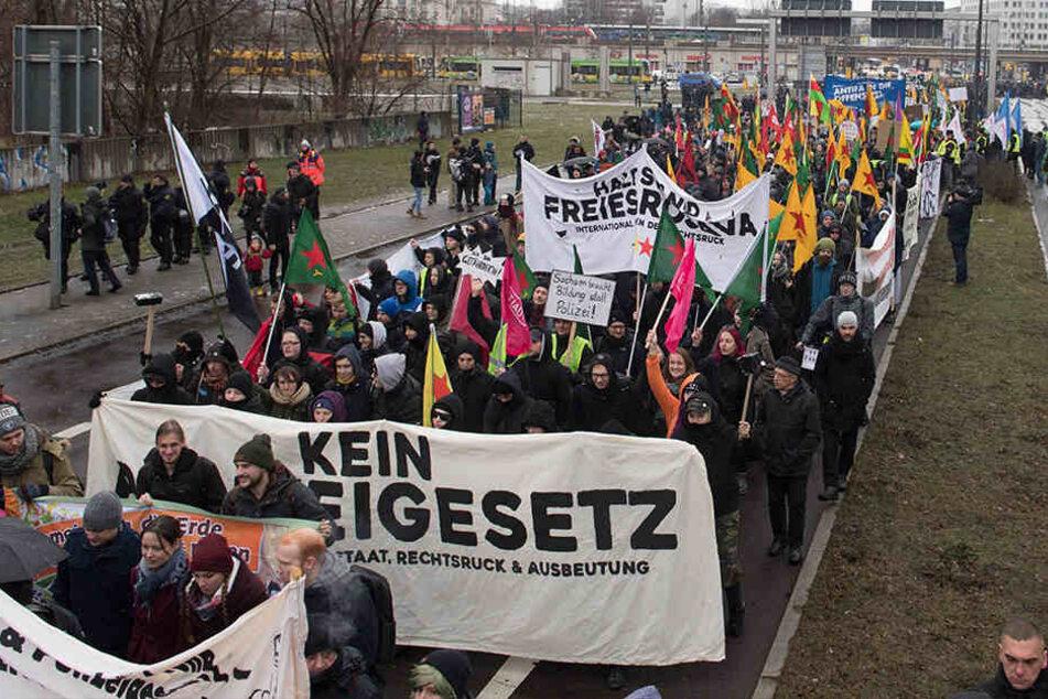 Die Demonstranten befürchten massive Eingriffe in die geltenden Bürgerrechte.