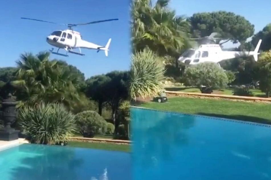 Dekadent: Diese Promis bestellen sich Helikopter-Taxi in den Garten!