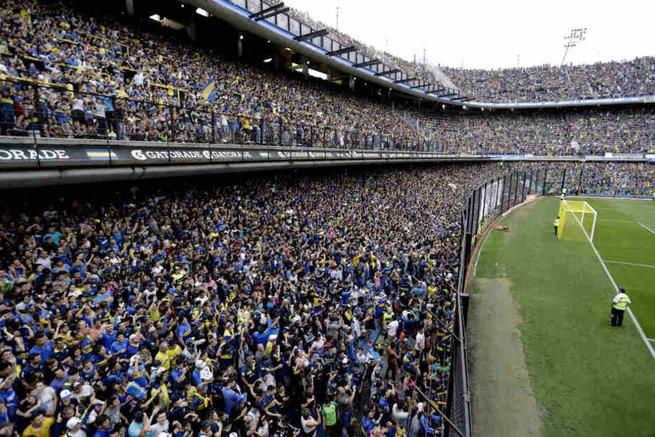 Volle Hütte, obwohl die Mannschaft nur Training hat. So geschehen am Donnerstag bei den Boca Juniors.