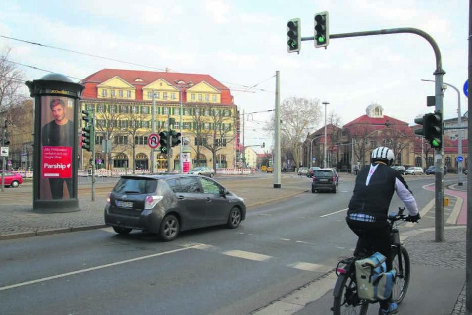 Für 60000 Euro wird am Güntzplatz ein Radübergang von der Ziegelstraße zur Elsässer Straße geschaffen.