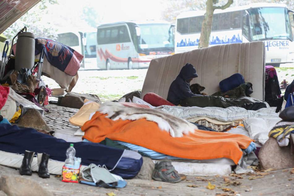 Bei niedrigeren Temperaturen können Obdachlose erfrieren.