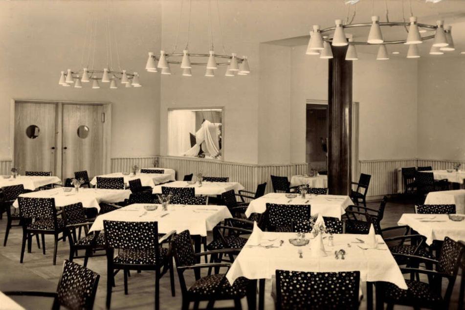 So sah es im Restaurant des Hotel Carola zu DDR-Zeiten aus.