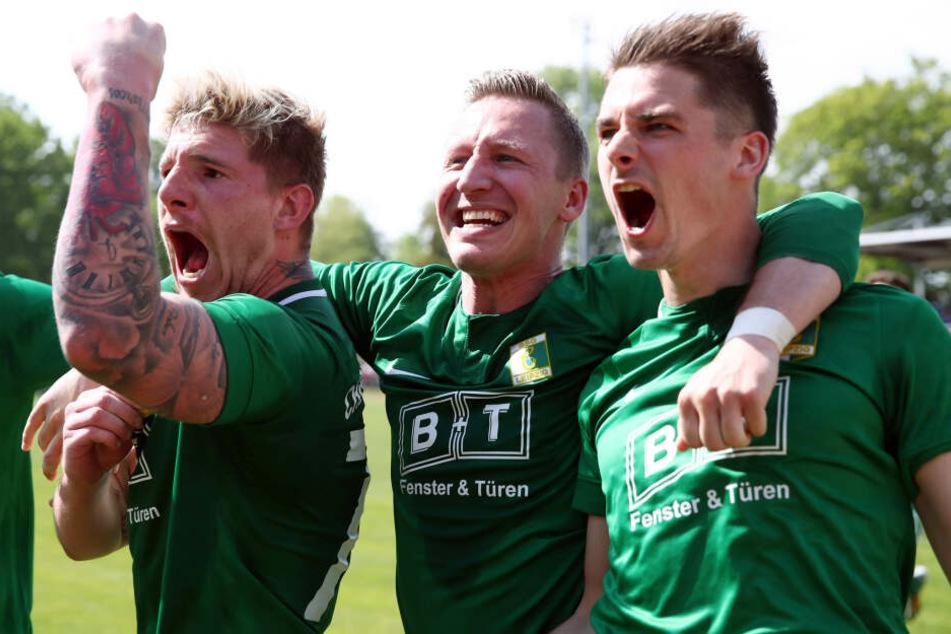 Kai Druschky (l.) und Daniel Heinze (r.) stießen die Tür zur Regionalliga ganz weit auf.