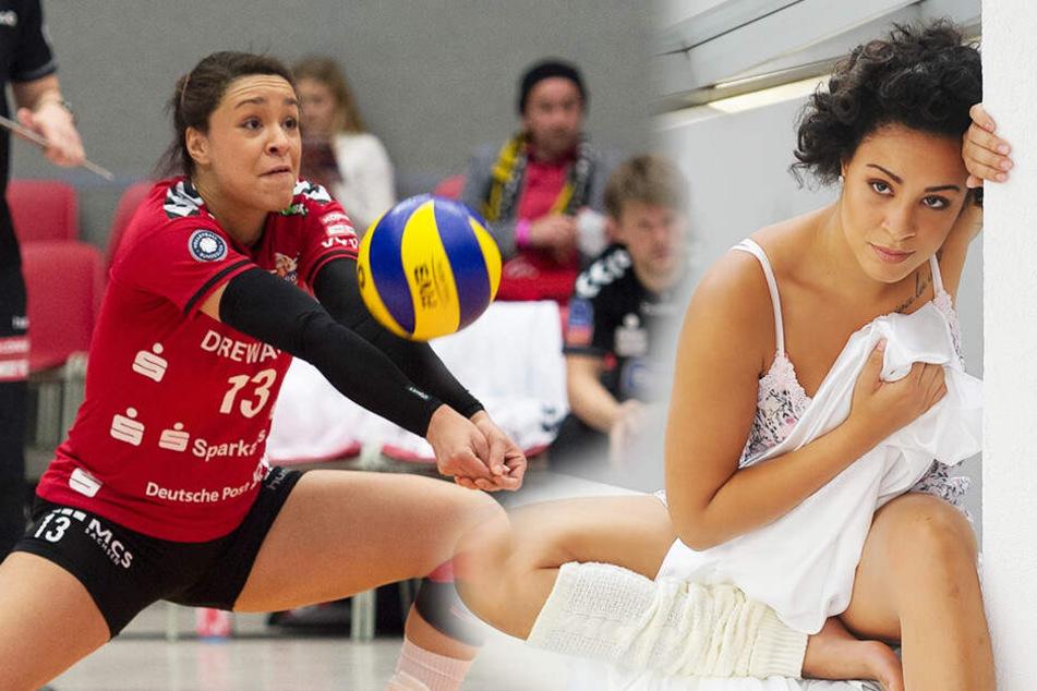 Lisa Izquierdo spielte von 2007 bis 2016 für den VC Olympia Dresden und den Dresdner SC.