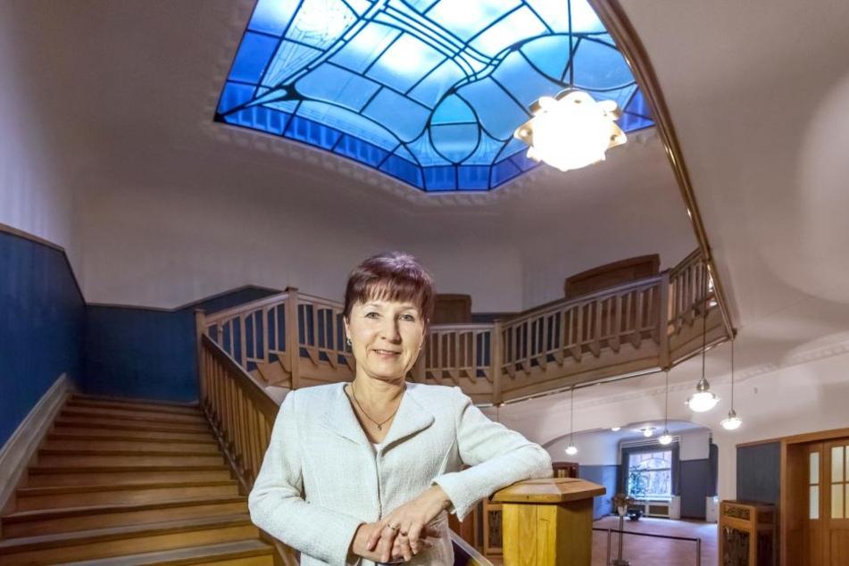 Andrea Pötzsch (52), Leiterin der Villa Esche, organisiert verschiedenste Veranstaltungen in den Räumlichkeiten.