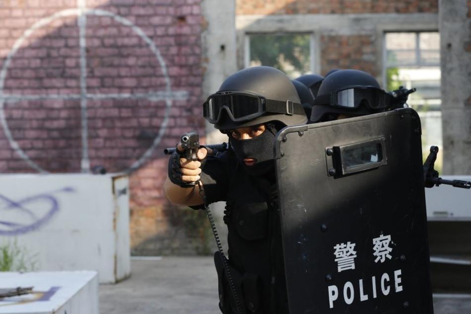 Die Polizei erschoss die vier Menschen, die einen Sprengsatz gezündet hatten. (Symbolbild).
