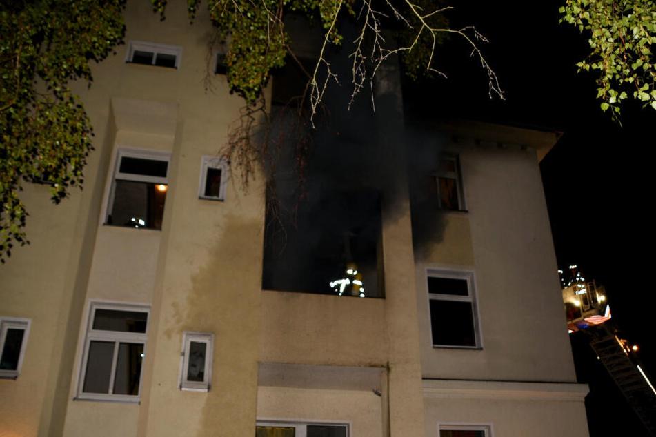 Zwei Personen bei Brand in Leipzig verletzt