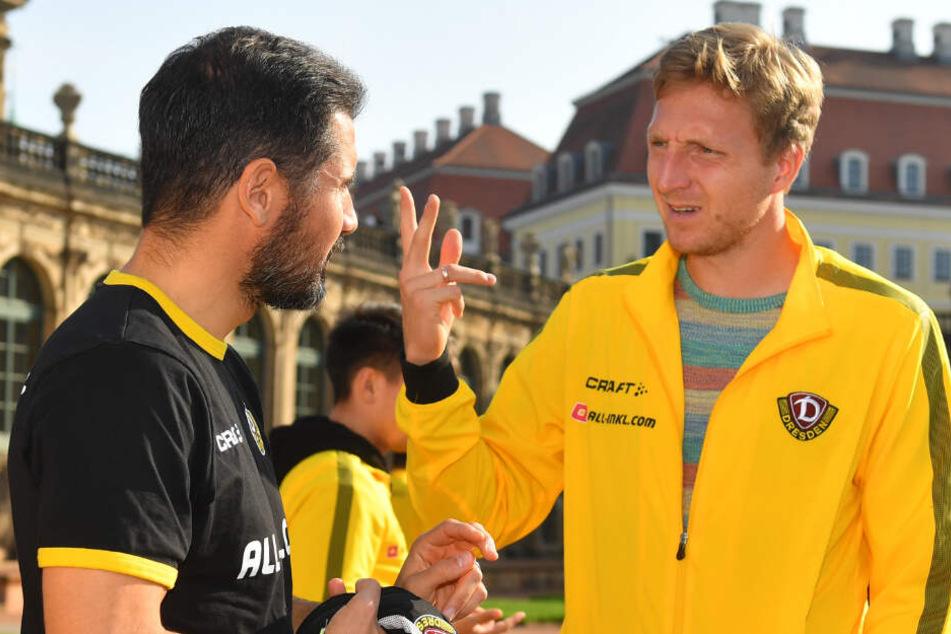 Mit Cristian Fiel (l.) spielte Marco Hartmann noch zusammen. Seine Entlassung schmerzte dem Kapitän besonders.