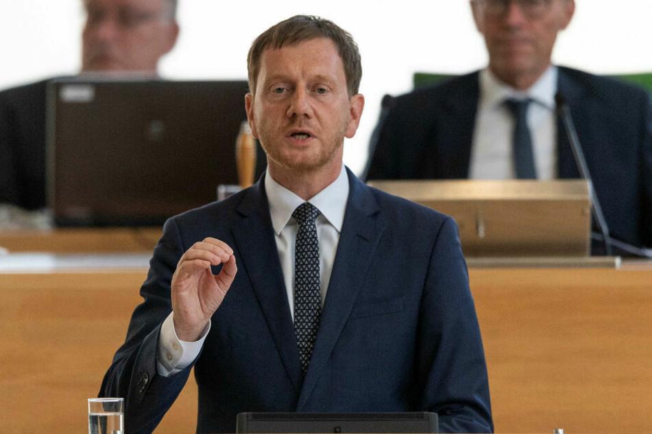 Gab offenbar den Anstoß zur Rettung des Natur- und Klettergebiets: Sachsens Ministerpräsident Michael Kretschmer (44, CDU).