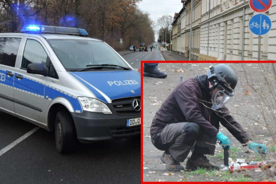 Großeinsatz bei Leipzig: Blinkender Koffer nahe Krankenhaus gefunden