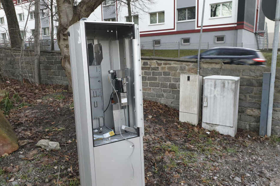 Auf dem Kaßberg wurde ein Parkscheinautomat gesprengt.