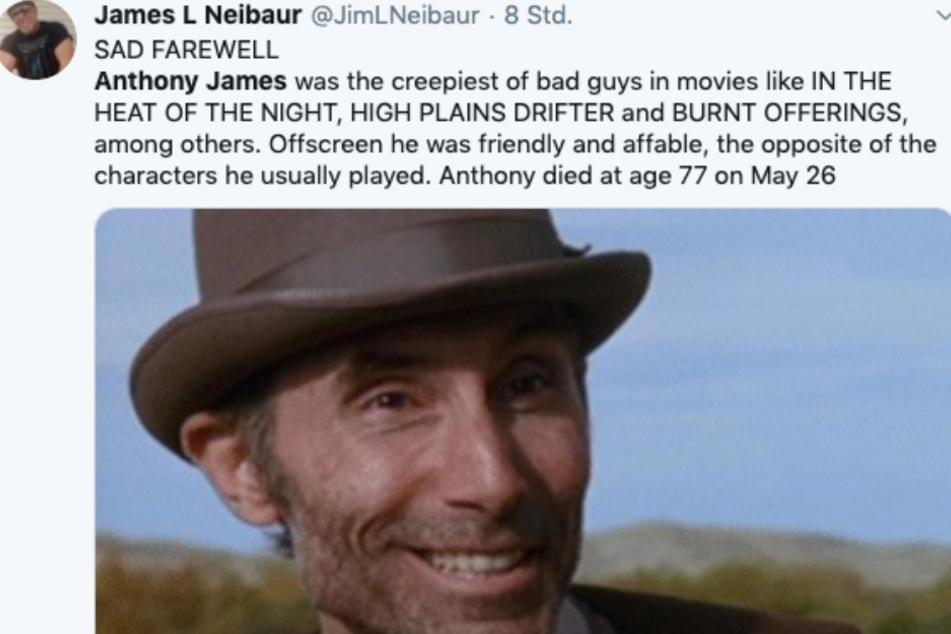 Auch die Twitter-Gemeinde trauert um den verstorbenen Schauspieler.