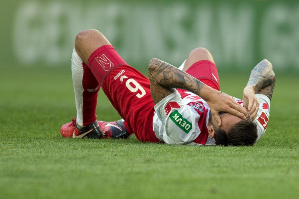Marco Höger (28) fällt nach der Schulterverletzung vorerst aus (Archivbild).