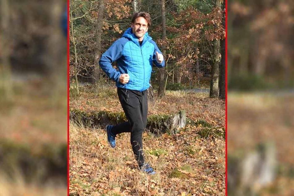 Schauspieler Falk-Willy Wild (51) läuft besondern gern durch den Wandlitzer Wald.