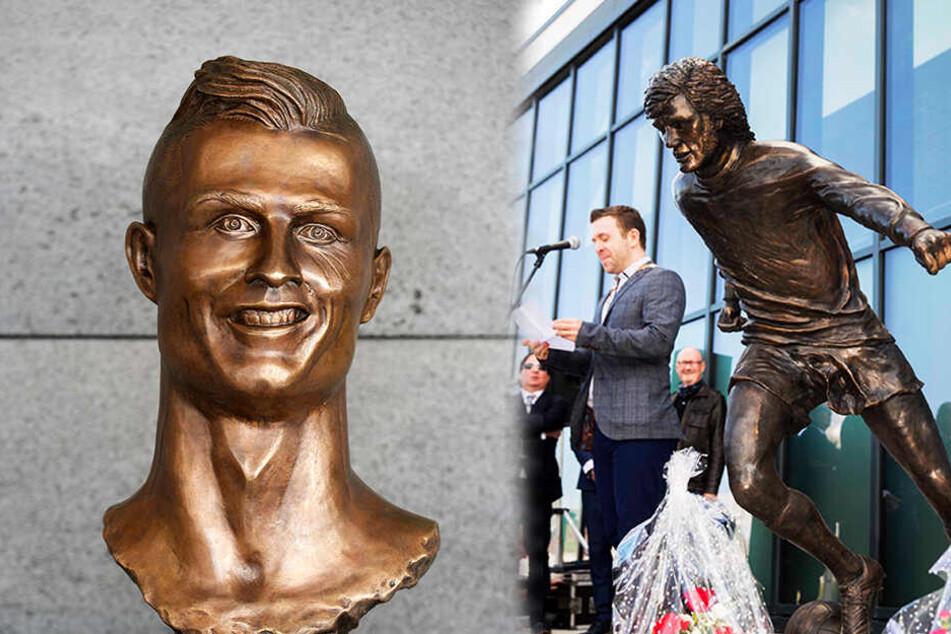 """Fußball-Legende mit Statue geehrt, Fans empört: """"Schlechter als Ronaldos""""!"""