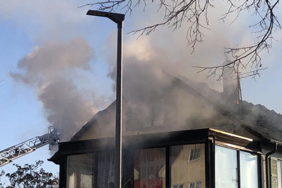 Ein Mann kam in den Flammen ums Leben.