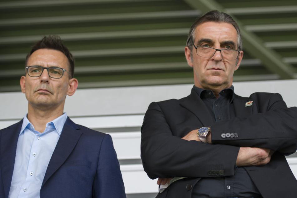 Michael Born und Ralf Minge vertraten den Verein bei der Verhandlung am Montag in Frankfurt.