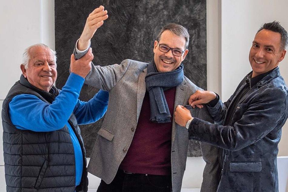 Jürgen Schimmel (77), Christoph Dittrich (52) und Tilo Kühl-Schimmel (45).