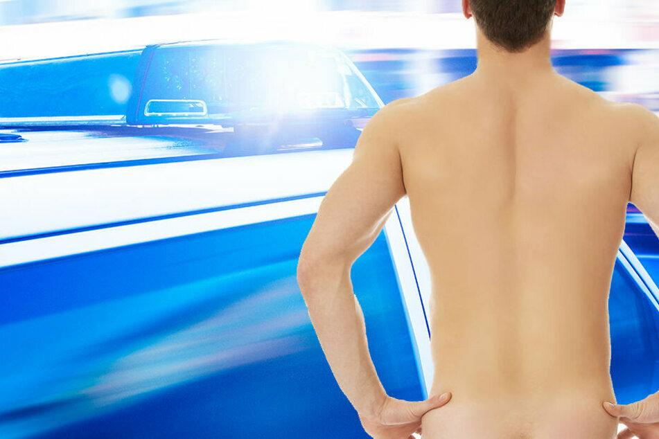 Nackter Mann sorgt für Polizeieinsatz im Erzgebirge