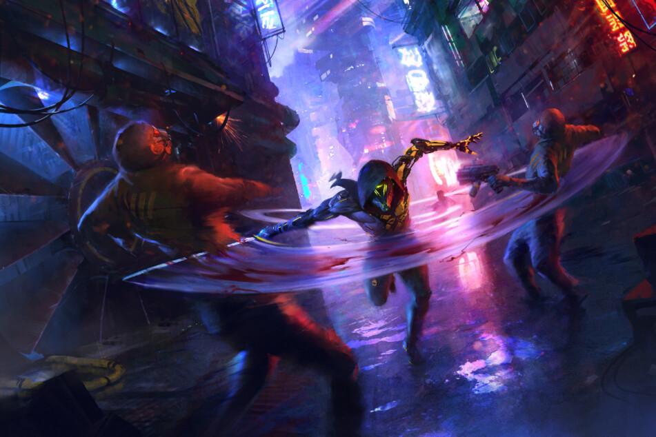 """In """"Ghostrunner"""" schlüpft Ihr in die Rolle eines namenlosen Killers, der sich - nur mit seinem Katana bewaffnet - durch eine dystopische Stadt kämpft. Das Spiel spart nicht an Gewaltdarstellungen, weiß diese jedoch auch gekonnt in das raue Setting einzubauen."""